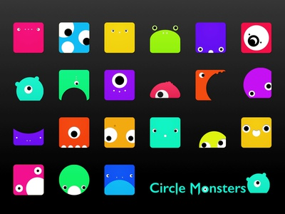 Circle Monsters collection circles revision design icon monster