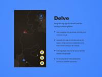 Delve daily ui ui map app app side project ux design ui design fantasyui 12in12