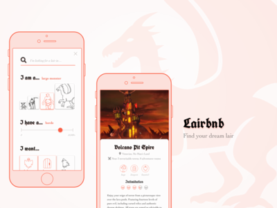 Lairbnb airbnb daily ui ux design ui design hotel app 12in12 side project fantasyui
