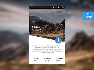 CreativesCastle UI #004 — User Profile - Free PSD freebies app widget ui profile user psd free download creativescastle