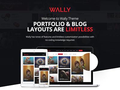 Wally - Creative Portfolio/Blog Multi-Purpose WordPress Theme web ux ui envato themeforest portfolio blog theme wordpress