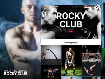 Wally Theme - Rocky Club Demo fitness sport boxing demo web ux ui envato portfolio blog theme wordpress