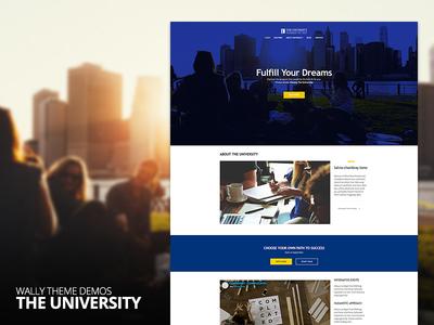 Wally Theme - The University Demo school university demo web ux ui envato themeforest portfolio blog theme wordpress