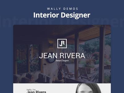 Interior Designer Demo - Wally Theme one page portfolio designer interior wordpress theme ui design web demo ux