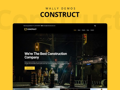 Construct Demo - Wally Theme ux demo web design ui theme wordpress construction building