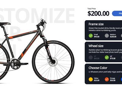 eCommerce 03 - Capeto UI Web Kit customize price bike wizard checkout website ecommerce ux ui widget e-commerce