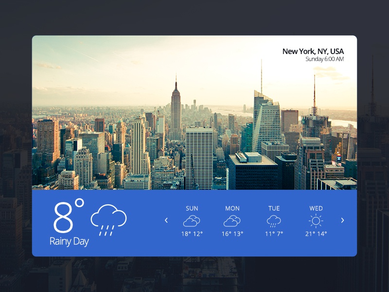 Weather 02 — Capeto Web UI Kit ny weather free website media ui kit ui blog video ux widget e-commerce