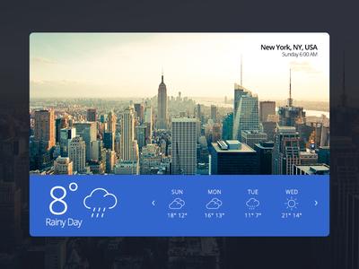 Weather 02 — Capeto Web UI Kit ny weather free website media ui kit ui blog video ux widget e-commerce
