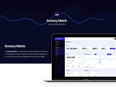 Grocery Metric - Analytics Dashboard panel admin ux ui market store report sales analytics dashboard