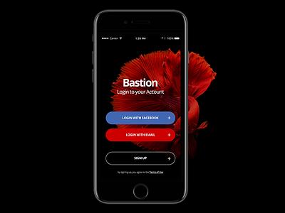 Bastion Mobile UI Kit (work in-progress) ecommerce blog profile sign up login walkthrough wip app mobile kit ux ui