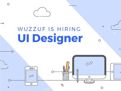Hiring post flat design designer ui job hire