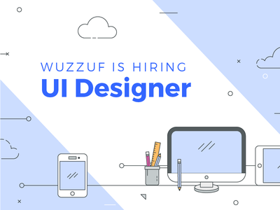 Hiring post flat design designer ui job hire