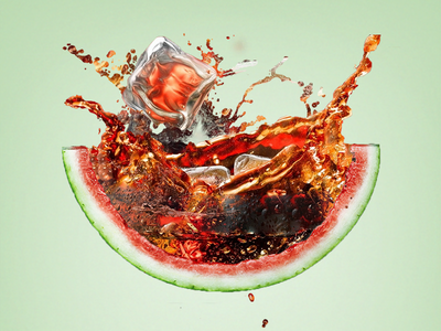 Watermelon Coke advertising ad manipulation coca cola summer fruit coke watermelon