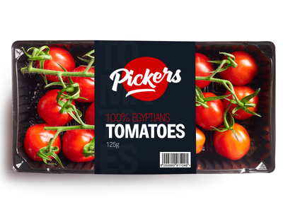 Pickers Packaging export egypt tomato logo branding brand package pack