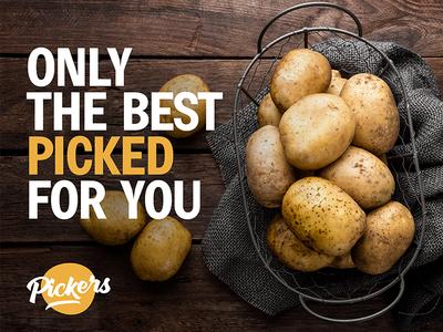 Pickers Poster poster pack package brand branding logo potato egypt export