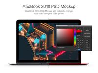 Macbook 2018 PSD Mockup