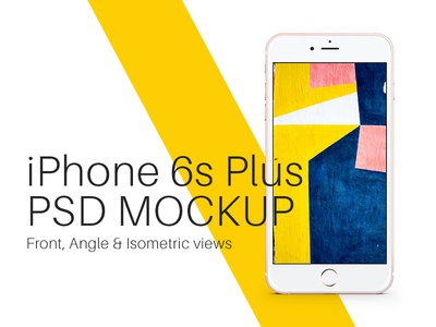 iPhone 6s Plus Rose Gold PSD Mockup showcase screen template mockup psd gold rose iphone 6s plus iphone