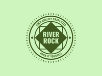 River Rock Retro Logo Template