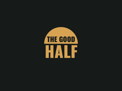 The Good Half Logo Template vector company print flat identity badge branding brand template logo half good