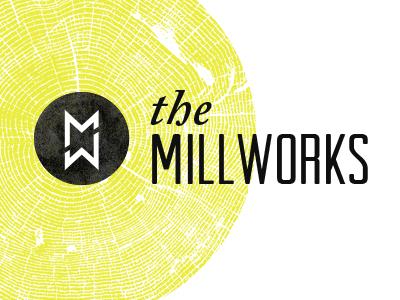 The Millworks logo wood grain