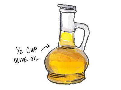 Oliveoil illustration cooking food