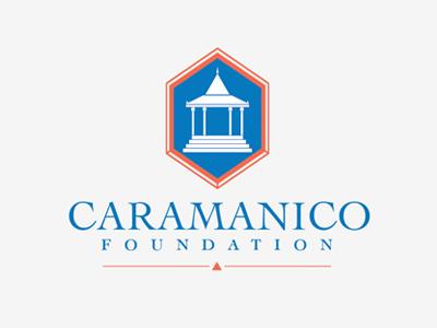 Caramanico Foundation Logo blue coral pagoda logo cambodia non-profit