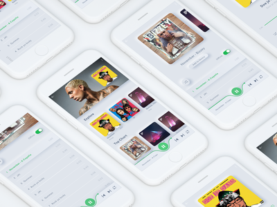 Spotify neumorphic concept with Bizzey interfacedesign interface app design app music app typeface typography uidesign ux ui graphicdesign branding graphic illustration design spotify cover bizzey neumorph neumorphic spotify