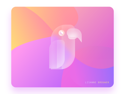 Glass Parrot 1 illustrator typography ux graphicdesign illustration ui design graphic sketchapp glass glassy glassmorphism