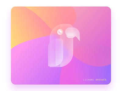 Glass Parrot 1 illustrator typography ux graphicdesign illustration ui design graphic sketchapp glass glassy glassmorphism