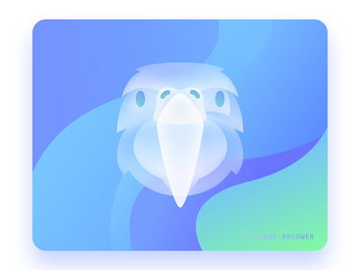 Glass parrot 2 glass glassmorphism branding illustrator sketchapp art graphicdesign ux ui illustration graphic design