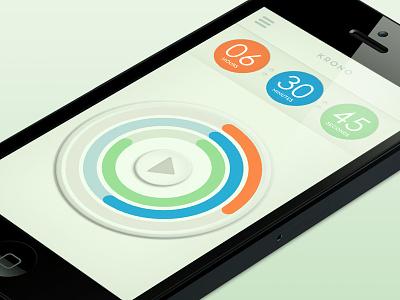 In progress: Krono app design ios design retro timer minimal