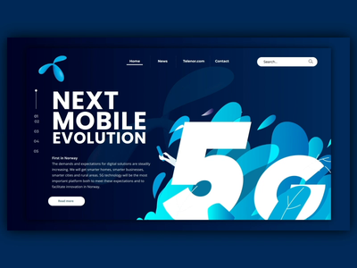 Telenor 5G aftereffects html5 css telecom webdesign website video vector design gif ui illustration ux user experience animation