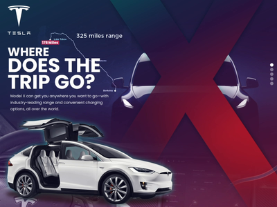 Where does the trip go? x demo concept typography tesla css design video aftereffects mockup gif illustration ux user experience animation