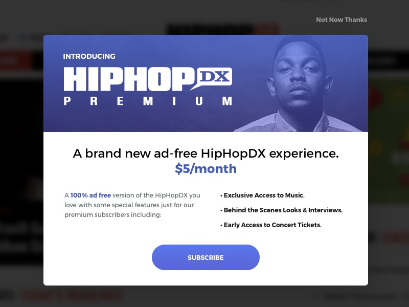 Daily UI #012 - Pop-Up / Overlay newsletter subscribe rap overlay popup 012 ui daily dailyui