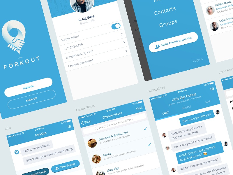 A (very) work in progress client project. chat app ios wip