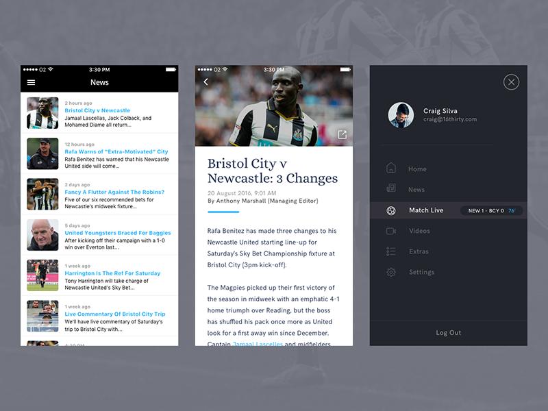 NUFC TV App Refresh feed news app football english nufc soccer united newcastle