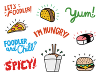 iOS Stickers for Foodler