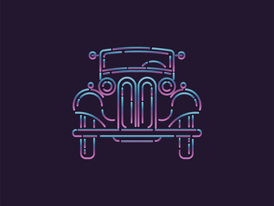 Duesenberg  logo monoline classic old mark gradient icon illustration minimal vector duesenberg car