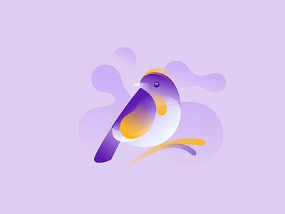 Orange Flanked Robin identity gradient symbol mark logo sparrow nature orange flanked robin bird finch