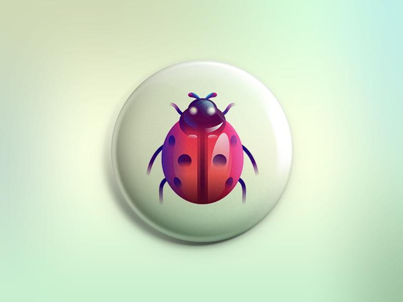 Ladybug nature bug beetle identity mark badge illustration graphic insect creature ladybug