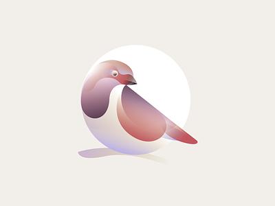 Sparrow identity gradient symbol mark logo sparrow nature bird finch