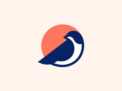 Sparrow Mark identity symbol mark logo sparrow nature bird finch passerine negative space