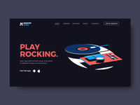 Music landing Page Concept