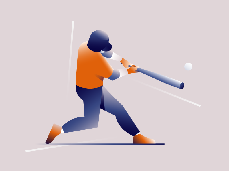 Ready For Hit! sport athletic character illustration vector player baseball