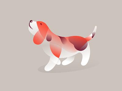 Beagle breed pet mark illustration animal dog beagle