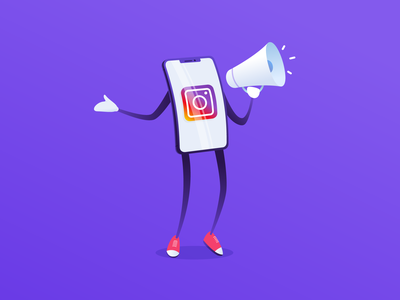Instagram Promotion app mobile vector illustration socialmedia studiotale post blog promotion marketing instagram