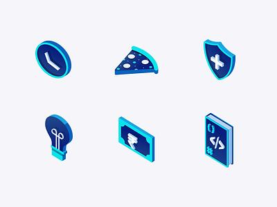 Anarock Icon Set web gradient design website simple modern isometric icon set vector ui icon illustration