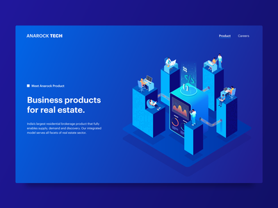 Product page website chart data landing people character isometric illustrator ui gradient illustration 3d