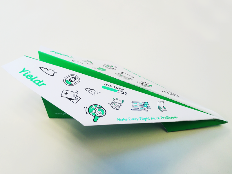 Yieldr Paper Planes diy promotionalcampaign profitable passengers travel load factor origami flight airlines yieldr paperplane
