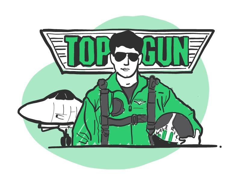 Top Gun Day jets apple pencil illustration ipad pro maverick tomcruise yieldr topgun